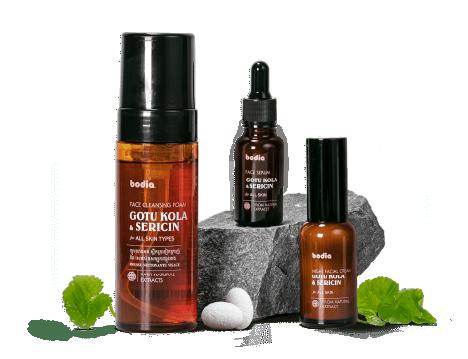 Gotu Kola & Sericin Skincare range
